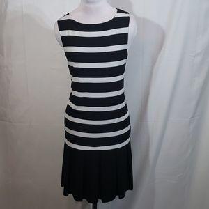 EUC Soho Black and White Striped Party Dress Large